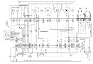 Схема подключения указателей и аварийных ламп МАЗ-5440E9, 5340E9, 6310E9, 6430E9 с двигателем Mercedes OM501LAV/4 (Евро-5).