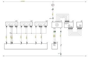 Схема подключения переключателей управления щитком приборов МАЗ-5440.