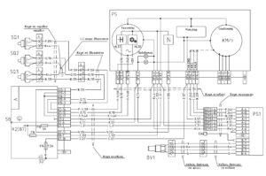 Схема подключения тахографа, тахометра и датчика нейтрали МАЗ-5440E9, 5340E9, 6310E9, 6430E9 с двигателем Mercedes OM501LAV/4 (Евро-5).