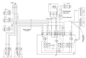 Схема подключения сигнализации сигнала торможения, ручного тормоза и заднего хода МАЗ-5440E9, 5340E9, 6310E9, 6430E9 с двигателем Mercedes OM501LAV/4 (Евро-5).