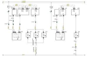 Схема подключения знаков автопоезда, фары освещения сцепки МАЗ-5440.