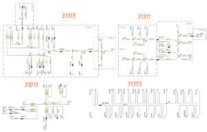 Схема разводки минуса (GND) МАЗ-5440.