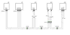 Схема подключения шины CAN Actimux МАЗ-5440.