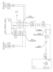 Схема подключения радиооборудования МАЗ-5440E9, 5340E9, 6310E9, 6430E9 с двигателем Mercedes OM501LAV/4 (Евро-5).