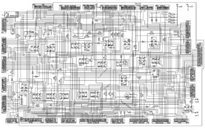 Схема электрическая принципиальная блока коммутации БКА-4 МАЗ-5440E9, 5340E9, 6310E9, 6430E9 с двигателем Mercedes OM501LAV/4 (Евро-5).