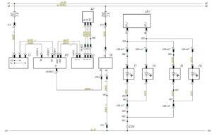 Схема подключения фар ближнего и дальнего света МАЗ-5440.