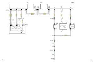 Схема подключения датчиков блокировки заднего моста МАЗ-5440.