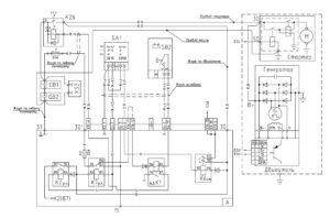 Схема системы электропитания МАЗ-5440E9, 5340E9, 6310E9, 6430E9 с двигателем Mercedes OM501LAV/4 (Евро-5).