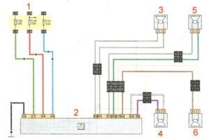 Схема подключения аудиосистемы Рено Дастер 2017 год.
