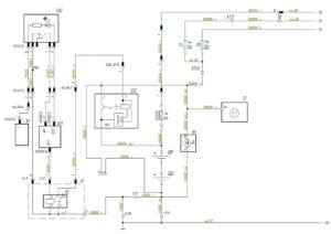 Схема системы электропитания автомобиля МАЗ-5440.