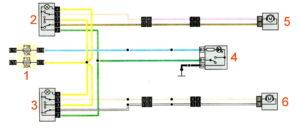Схема подключения задних электростеклоподъёмников Рено Дастер 2017 год.