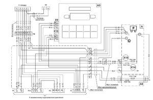 Схема управления микроклиматом МАЗ 5340M4, 5550M4, 6312М4 (Mercedes, Евро-6).