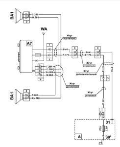 Схема радиооборудования МАЗ 5340M4, 5550M4, 6312М4 (Mercedes, Евро-6).