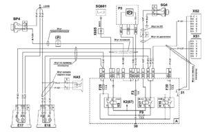 Схема подключения сигнализации сигнала торможения, ручного тормоза и заднего хода МАЗ 5340M4, 5550M4, 6312М4 (Mercedes, Евро-6).
