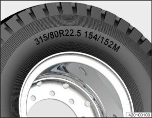 Колёса и шины МАЗ 5340M4, 5550M4, 6312М4 (Mercedes, Евро-6).