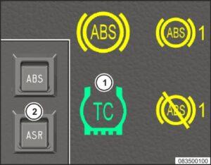 Противобуксовочная система ведущих колес (ПБС) МАЗ 5340M4, 5550M4, 6312М4 (Mercedes, Евро-6).