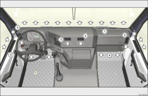 Отопление и вентиляция МАЗ 5340M4, 5550M4, 6312М4 (Mercedes, Евро-6).
