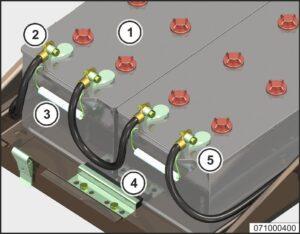 Эксплуатация и обслуживание аккумуляторных батарей МАЗ 5340M4, 5550M4, 6312М4 (Mercedes, Евро-6).