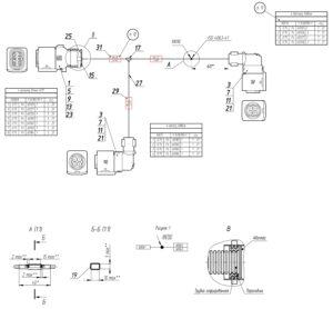 Жгут системы впрыска аммиачного раствора МАЗ-5440.