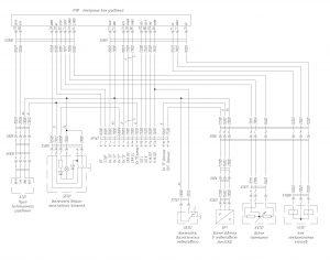 Схема электрическая принципиальная ЭСУПП на автомобиль семейства МАЗ-6430 производства Экран.