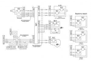 Схема подключения электропакета дверей 631228-3700001 ЭЗ автомобилей МАЗ семейства 6430.