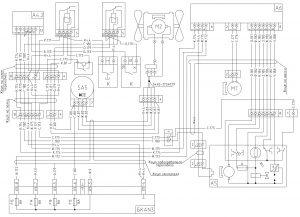 Схема подключения вентилятора отопителя и независимого отопителя МАЗ-6430, двигатели ЯМЗ, MAN, Евро-1, 2, 3, БКА-3, 643008-3700001 И.