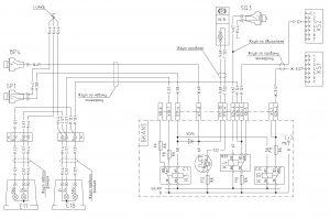 Схема системы сигнализации сигнала торможения, ручного тормоза и заднего хода МАЗ-6430, двигатели ЯМЗ, MAN, Евро-1, 2, 3, БКА-3, 643008-3700001 И.