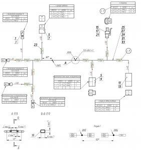 Жгут инструментального ящика МАЗ-5440.