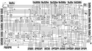 Схема электрическая принципиальная БКА-3 МАЗ-544018, 643018,650118 (Евро-3), МАЗ-534019, 544019, 630119, 650119 (Евро-4) с двигателями Mercedes OM501LAIII/18, OM501LAIV/4.
